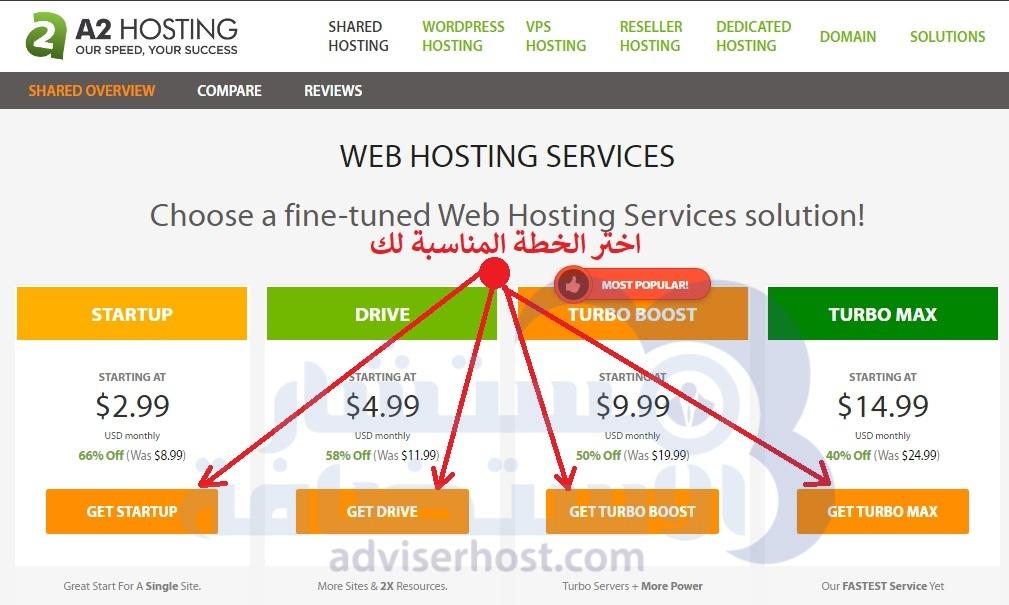 كيفية حجز وشراء استضافة من A2hosting خطوة 3 الجديدة